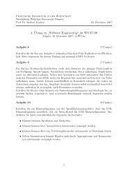 """4. ¨Ubung zu """" Software Engineering"""" im WS 07/08"""