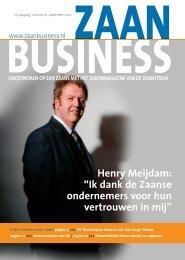 Ik dank de Zaanse ondernemers voor hun ... - Zaanbusiness