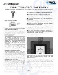 Tap/r thread rolling screws - West Coast Lockwasher - WCL Fasteners