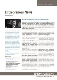 Entrepreneur News - Home - Ernst & Young - Schweiz