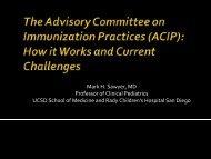 Mark Sawyer - California Immunization Coalition