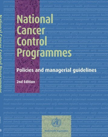 National Cancer Prevent program policies and Managerial Guideline