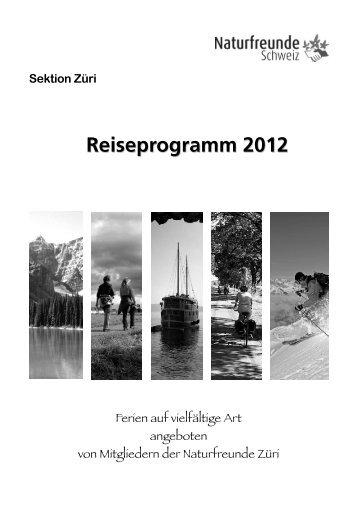 Reiseprogramm 2012 - Naturfreunde Schweiz