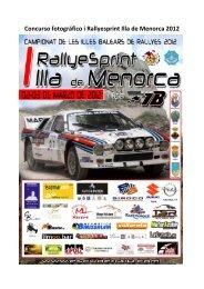 Concurso fotográfico i Rallyesprint Illa de Menorca 2012