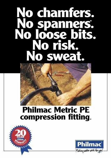 Philmac Metric PE compression fitting. - Dural Irrigation