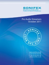 Pro Audio Streamers October 2011 - Broadcast Warehouse