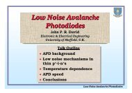 Low Noise Avalanche Photodiodes