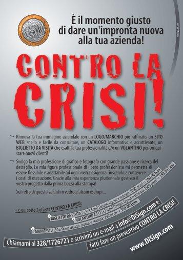 CONTRO LA CRISI! - Disign
