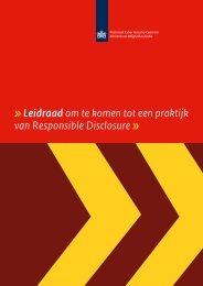 Leidraad responsible disclosure - NCSC