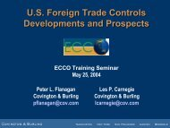 U.S. Foreign Trade Controls Developments and Prospects U.S. ...