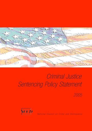 Criminal Justice Sentencing Policy Statement - National Council on ...