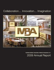 2009 Annual Report - Master Builders' Association of Western ...