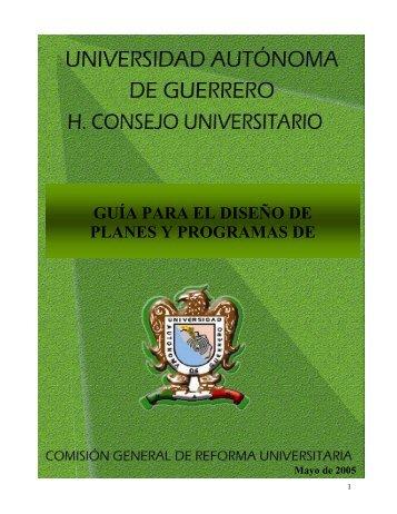 Guia para el diseño de planes y programas - Comisión General de ...