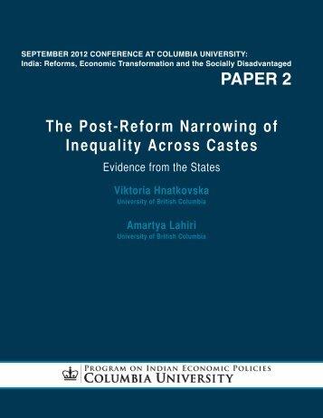 paper 2 - Program on Indian Economic Policies - Columbia University