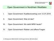 Open Government in Nordrhein Westfalen - Oev-symposium.de