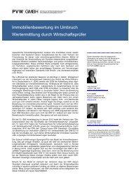 Immobilienbewertung im Umbruch Wertermittlung ... - PVW | GMBH