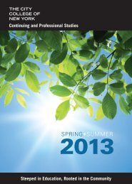Download Catalog - The City College of New York - CUNY