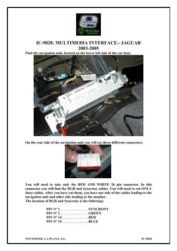 ic-9028: multimedia interface.- jaguar 2003-2005 - Novosonic