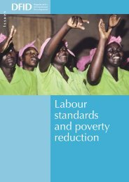 Labour Standards and Poverty Reduction