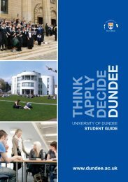 UNIVERSITY OF DUNDEE STUDENT GUIDE - USP
