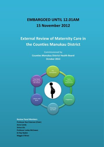External Review of Maternity Care in the Counties Manukau District