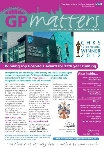 GP Matters Edition 8 Summer 2012 - Newcastle Hospitals