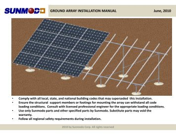 GROUND ARRAY INSTALLATION MANUAL June, 2010