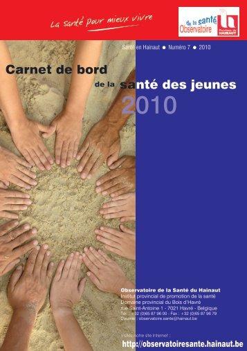 Carnet de bord santé des jeunes - La Province de Hainaut