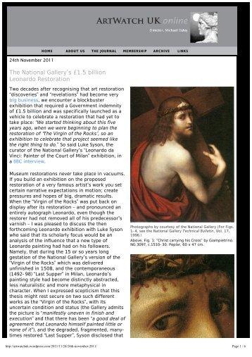 The National Gallery's £1.5 billion Leonardo Restoration - Artwatch