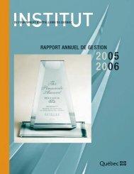 Rapport annuel 2005-2006 - Institut de tourisme et d'hôtellerie du ...