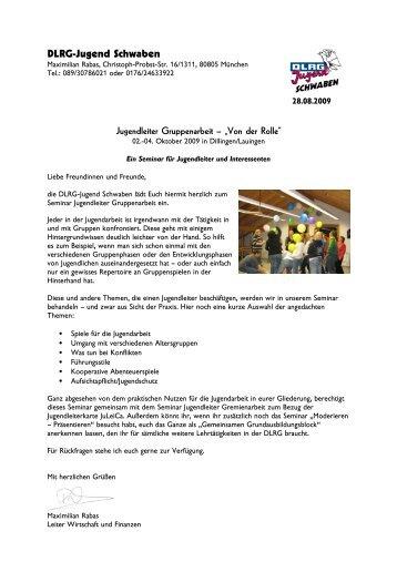 Jugendleiter Gremienarbeit vom 02.-04.10.2009 in Dillingen