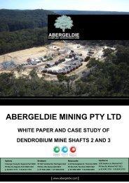 abergeldie mining pty ltd white paper and case study of dendrobium ...