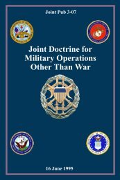 JP 3-07 Joint Doctrine For Military Operations Other Than War