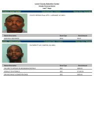 Updated Nov. 18: Mugshots of people arrested in Lenoir County