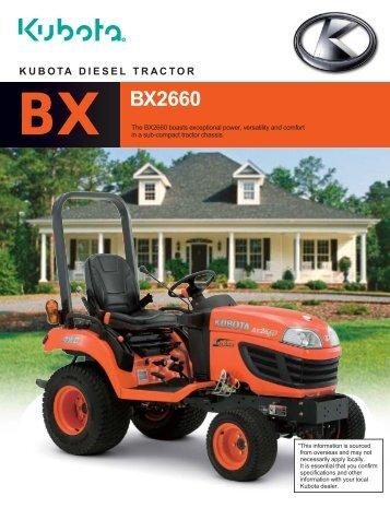 kubota diesel tractor bx bx2660