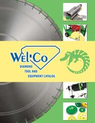 DiamonD Tool anD EquipmEnT CaTalog - Wel-Co Diamond Tool ...