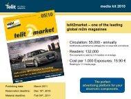 media kit 2010 telit2market – one of the leading global m2m ...