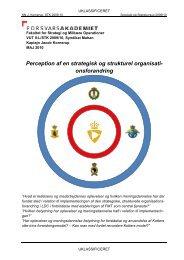 Perception af en strategisk og strukturel organisationsforan