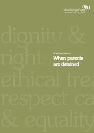 When parents are detained - Mental Welfare Commission for Scotland