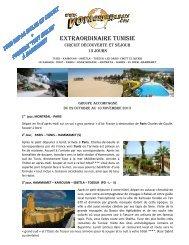 EXTRAORDINAIRE TUNISIE - Voyages à rabais