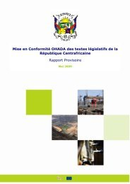 Mise en Conformité OHADA des textes législatifs de la République ...
