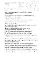 Fragen und Antworten Grundvorlesung 1 vom ... - ZMBH