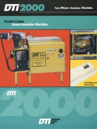 Pocket Cutter Screw Insertion Machine. - Pneumatic Tools Online