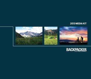 2013 Media Kit - Backpacker Magazine