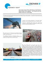 Innovative Crane Drive Solutions in the Field of ... - Tschan GmbH