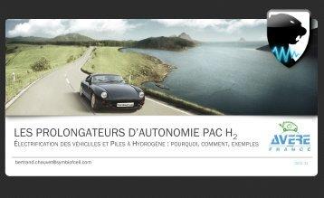 LES PROLONGATEURS D'AUTONOMIE PAC H