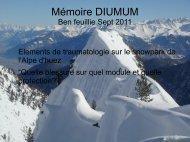2011 Accidents dans les snowpark - Secours-montagne.fr