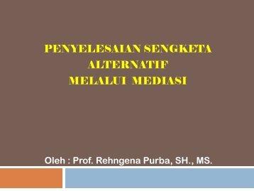 Implementasi PERMA No.01 Tahun 2008 Tentang ... - MS Aceh