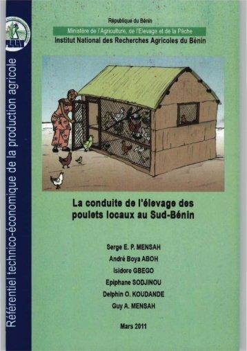La conduite de lelevage des poulets locaux au sud Bénin - eRails