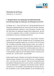 7. Neujahrs-Dinner der Hamburger Immobilienwirtschaft - DG Hyp